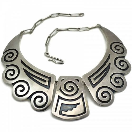 Rare Douglas Holmes Hopi Sterling Silver Necklace 1950's