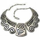 Rare Douglas Holmes Hopi Sterling Silver Necklace 1950's