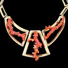 Rare Plateros Sigi Pineda Taxco Red Coral Sterling Silver Necklace