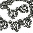Gerardo Lopez 980 Silver Taxco Mexican Repoussé Necklace
