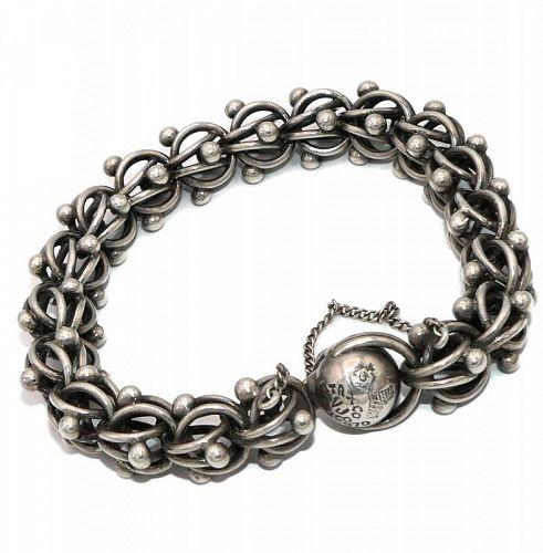 """Antonio Pineda Taxco Mexican 970 Silver Bracelet 7 1/4"""""""