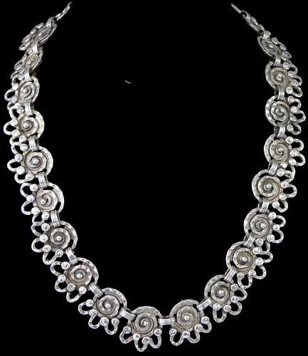 Early Matilde Poulat Matl Mexican Sterling Silver Necklace