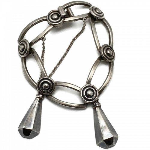 Los Castillo Taxco Mexican Dangles Sterling Silver Bracelet #788