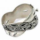 Antonio Pineda Intertwined Lascaux Taxco Mexican 970 Silver Bracelet