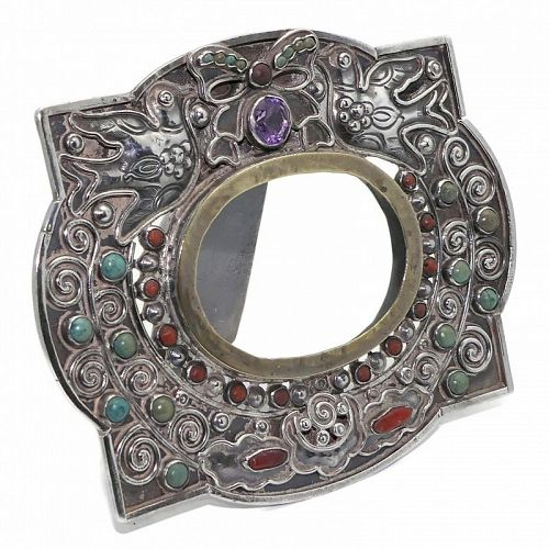 Matilde Poulat Matl Jeweled Palomas Mexican Sterling Silver Frame