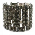 Fred Davis Design Mexican Sterling Silver Geometric Bracelet