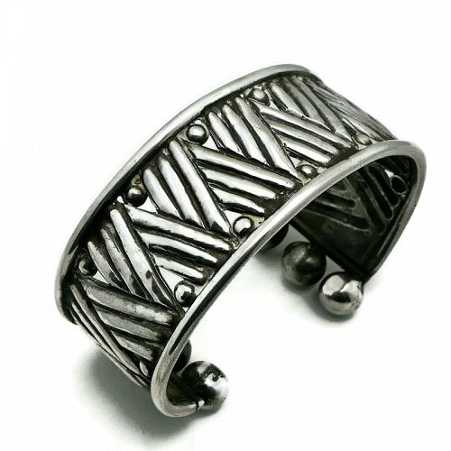 William Spratling Taxco Mexican Sterling Silver Cuff Bracelet