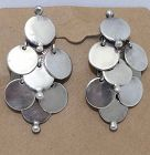 William Spratling Taxco Mexican Sterling Silver Disc Earrings