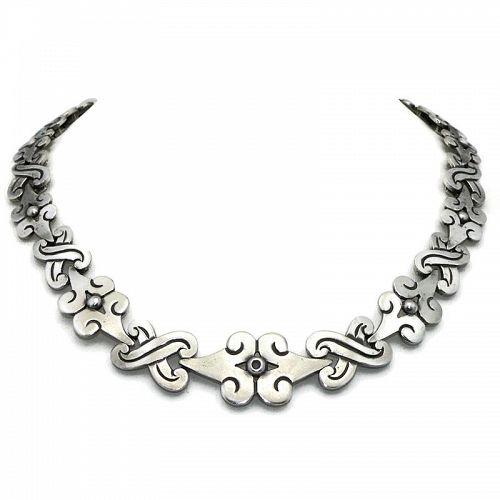 Hector Aguilar Taxco Mexican 940 Silver Fertility Necklace