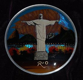CHRIST The REDEEMER ~ Decorative Plate ~ BRAZIL
