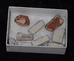 Pre-Columbian ~ MAYAN Shards ~ Box of 9