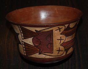 Pre-Columbian ~ NAZCA / NASCA ~ Polychrome BOWL