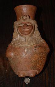 Pre-Columbian ~ MOCHE ~ Anthropomorphic VESSEL