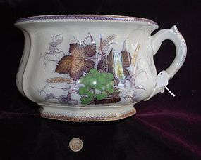 English Porcelain  ~  CHAMBER POT  ~  1880's
