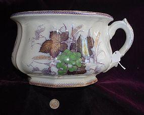 English Porcelain  ~  CHAMBER POT  ~  1880's