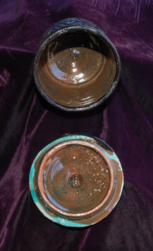 Moroccan SAFI  ~ Polychrome Lidded BOWL