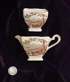 ROYAL  WINTON  ~  Staffordshire Sugar and Creamer