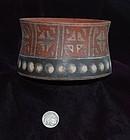 Pre-Columbian ~ PACHACAMAC ~ Polychrome BOWL