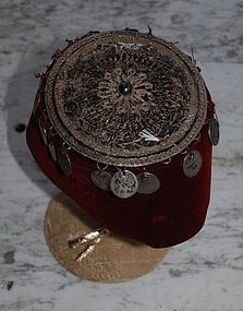 Beautiful  Moroccan ~ BERBER ~ Headdress 1960's
