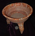 Pre-Columbian ~ MIXTEC ~ Tripod Vessel with Rattles