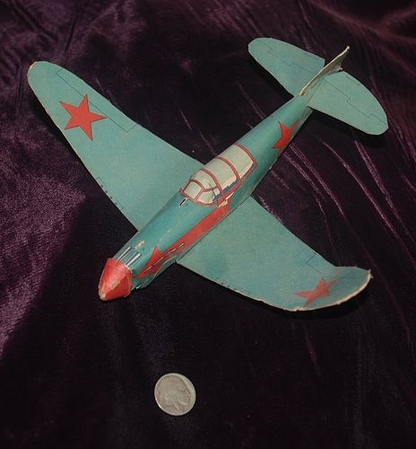 WWII ~ Paper Toy AIRPLANE ~ Russian Yak ~ Jack Armstrong # 10