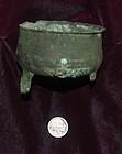 Ancient GREEK Bronze TRIPOD Bowl ~ c 300 B.C.