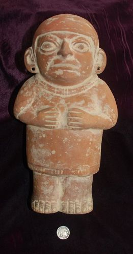 Pre-Columbian ~ MOCHE ~ Terracotta Male Standing FIGURE