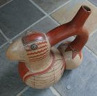 Pre-Columbian ~ MOCHE ~ Huge Terracotta PARROT Stirrup Spout VESSEL