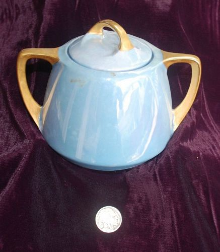 Vintage ~ GERMAN ~ Luster Ware SUGAR BOWL with LID