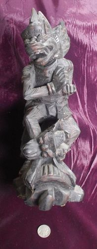 Beautiful ~ INDONESIAN ~ Hand-Carved WOOD Statue