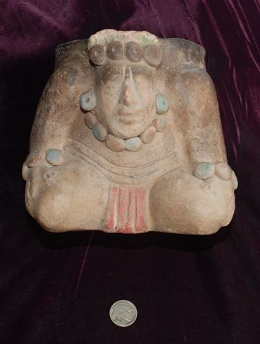 Pre-Columbian ~ MAYAN ~ Polychrome Ceremonial INCENSE BURNER