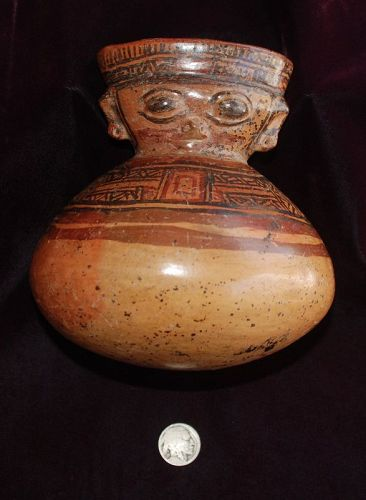 Pre-Columbian ~ COSTA RICAN ~ Polychrome Anthropomorphic VESSEL