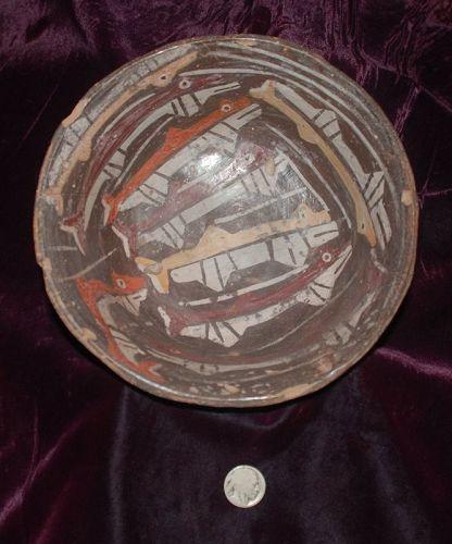Pre-Columbian ~ NAZCA / NASCA ~ Polychrome Terracotta BOWL