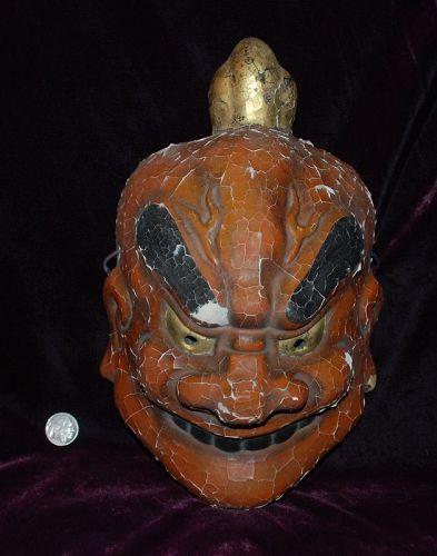 Japanese Lacquer KABUKI TENGU Mask ~ Signed