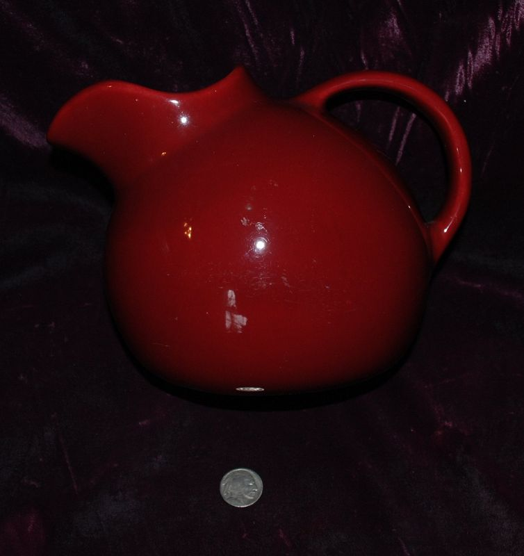 ART DECO ~ Red / Maroon Pouring PITCHER Number 99 ~ 1930's