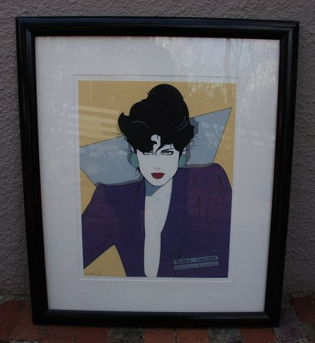 Framed ~ PATRICK NAGEL ~ Poster ~ Noble Gallery - Milwaukee WI