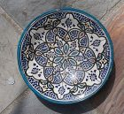 Hand-made, Hand-painted ~ MOROCCAN Plate ~  SAFI