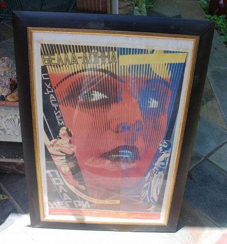 Framed ~ BELLA DONNA ~ Poster by Lithosphere - England ~  1987