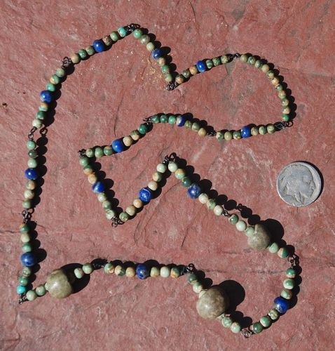 Pre-Columbian ~ TURQUOISE / LAPIS ~ Necklace