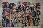 Vintage Egyptian PAPYRUS ~ Hand-Painted, Signed