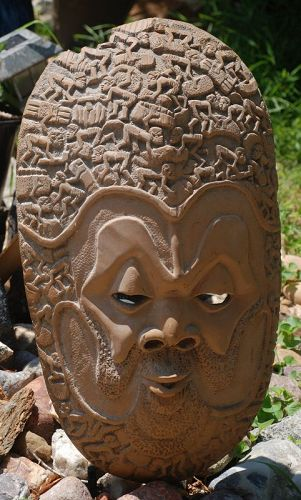 Beautiful Huge Wood  ~ Hand-Carved  ~ African MASK