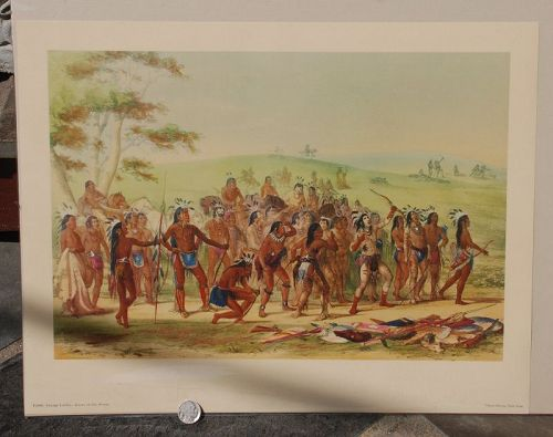 Game of the Arrow ~ Print P2988 ~ GEORGE CATLIN