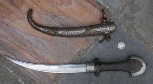 Antique ~ ISLAMIC KNIFE ~ 1830's - 1840's