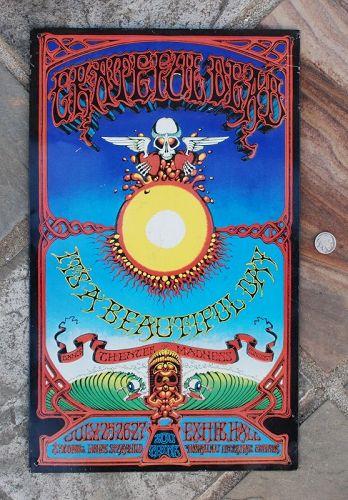 Vintage ~ GRATEFUL DEAD ~  Hawaiian Aoxomoxoa Metal Poster