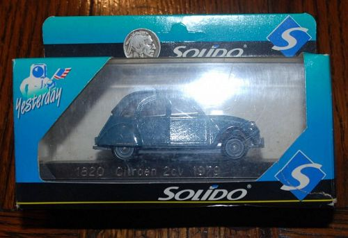 SOLIDO ~ 1820 Citroen 2CV 1979 ~ Diecast 1 / 43 ~ Toy CAR