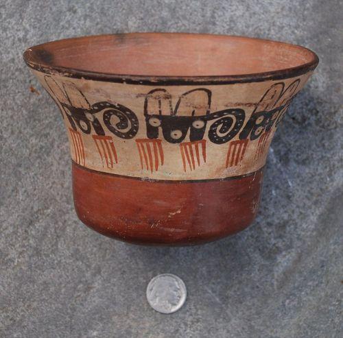 Pre-Columbian ~ NAZCA / NASCA ~ Polychrome Zoomorphic  BOWL