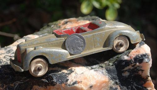 Vintage ~ HUBLEY KIDDIE TOY ~ Convertible Metal Toy CAR