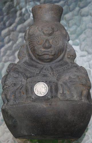 Pre-Columbian ~ MOCHE ~ Blackware AI APEC Spout VESSEL