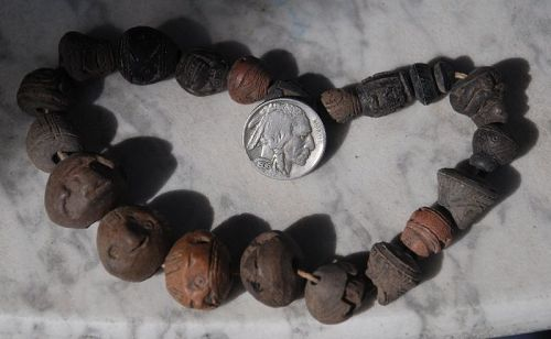 Pre-Columbian ~ Carved SPINDLE WHORL ~ Necklace