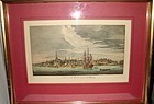 """HAND-TINTED PRINT """"A VIEW OF NEW YORK,1773"""""""
